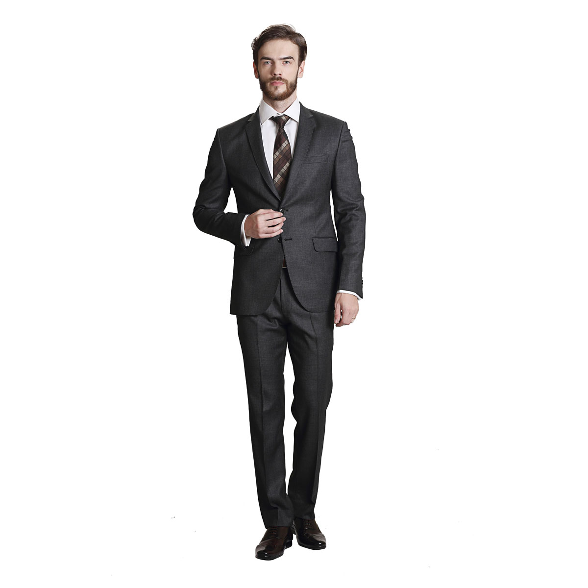 Live Rich Grey Suit - Best Bespoke Suits. Premium Custom Tailored ...