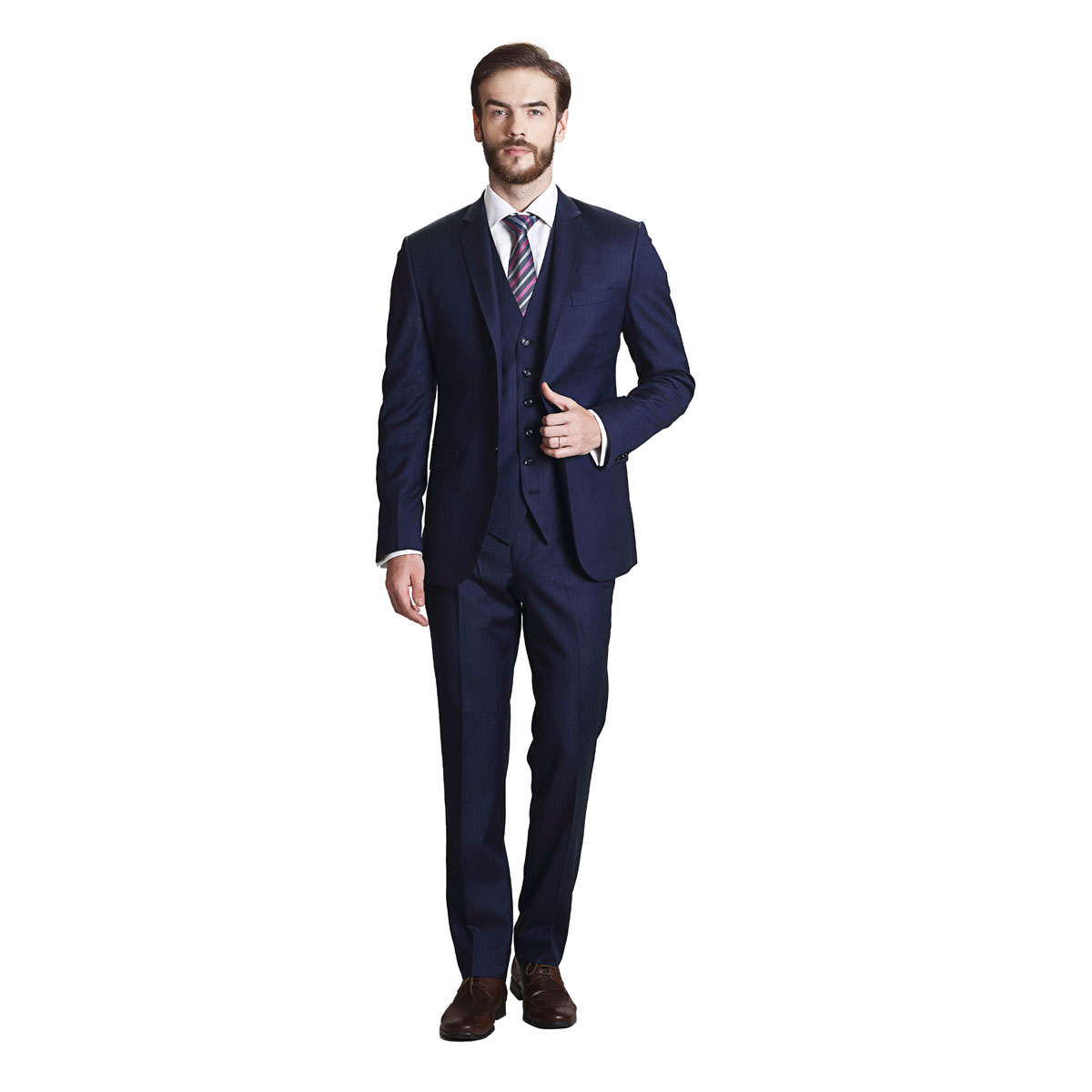 Majestic Charm Blue Suit - Best Bespoke Suits. Premium Custom