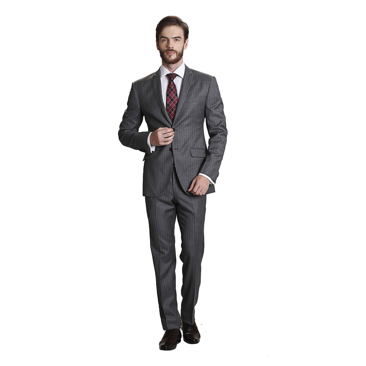 Joys Forever Grey Stripe Suit - Best Bespoke Suits. Premium Custom