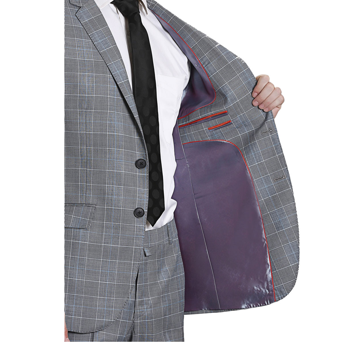 Happy Days Grey Check Suit - Best Bespoke Suits. Premium Custom ...