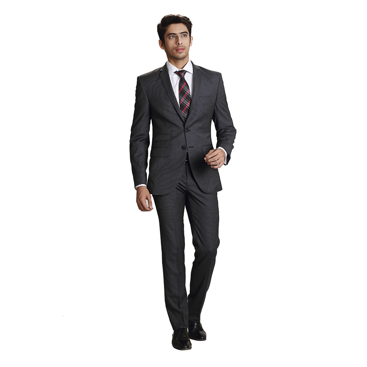 Take The Salute Grey Stripe Suit - Best Bespoke Suits. Premium