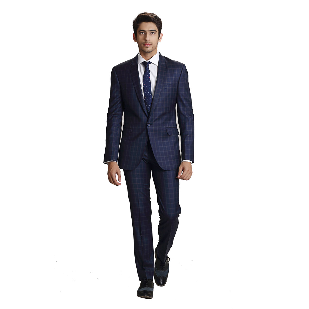 Blue Euphoria Check Suit - Best Bespoke Suits. Premium Custom