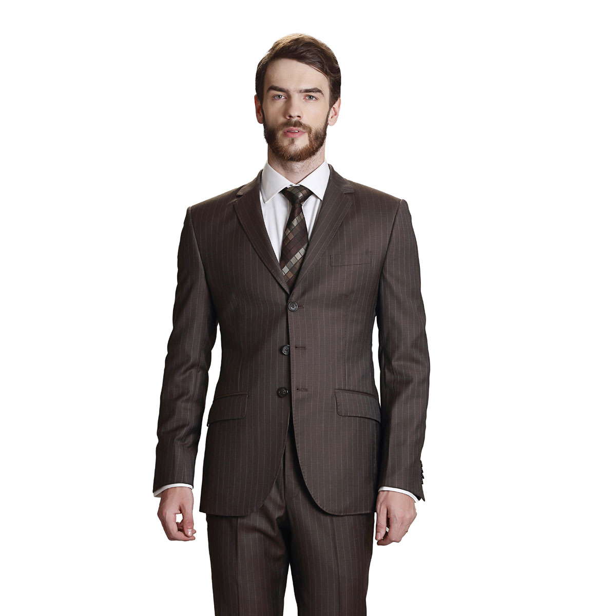 Crowning Glory Brown Stripe Suit - Best Bespoke Suits. Premium
