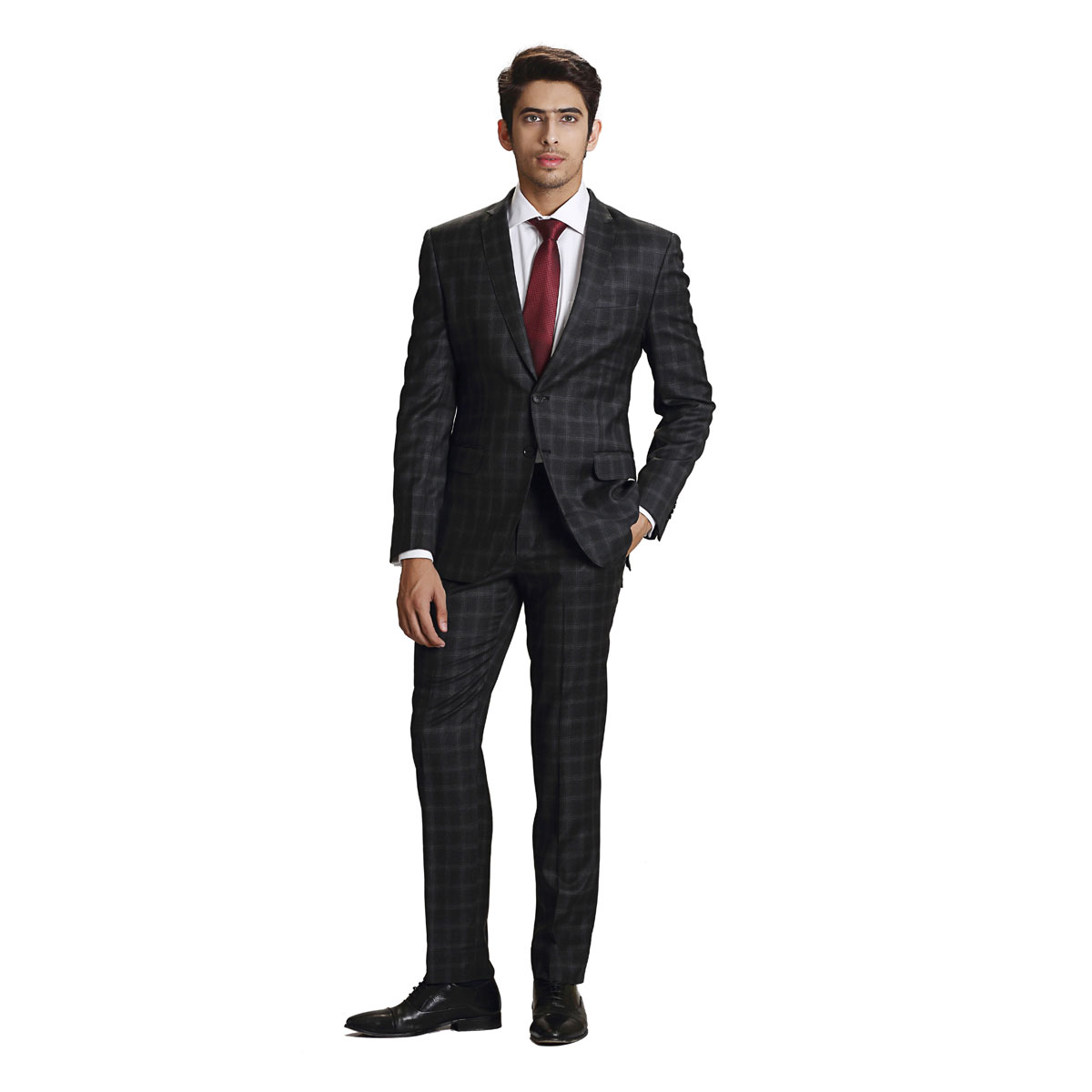 Naughty Black 'n' Grey Check Suit - Best Bespoke Suits. Premium ...