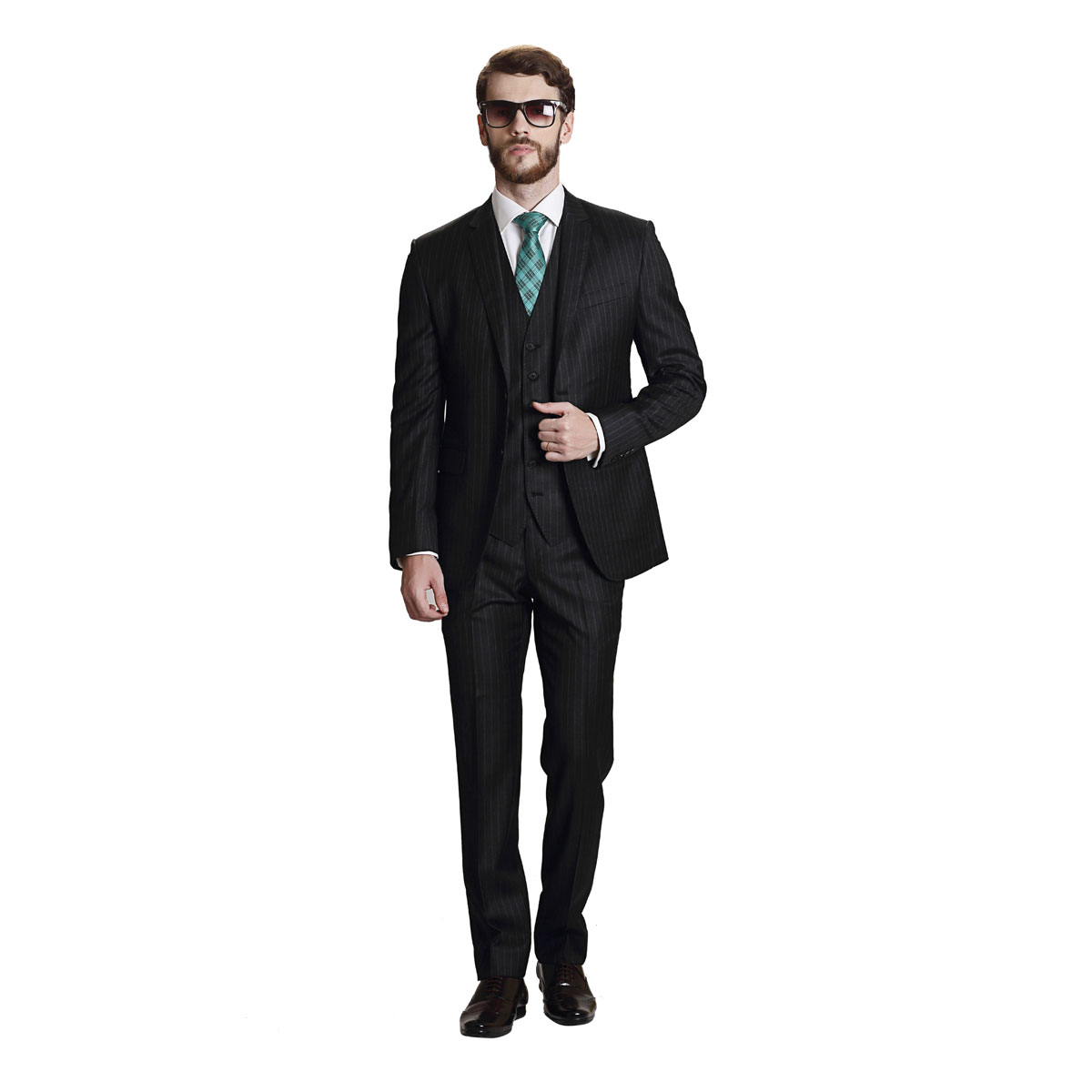 Ode To A Black Stripe Suit - Best Bespoke Suits. Premium Custom