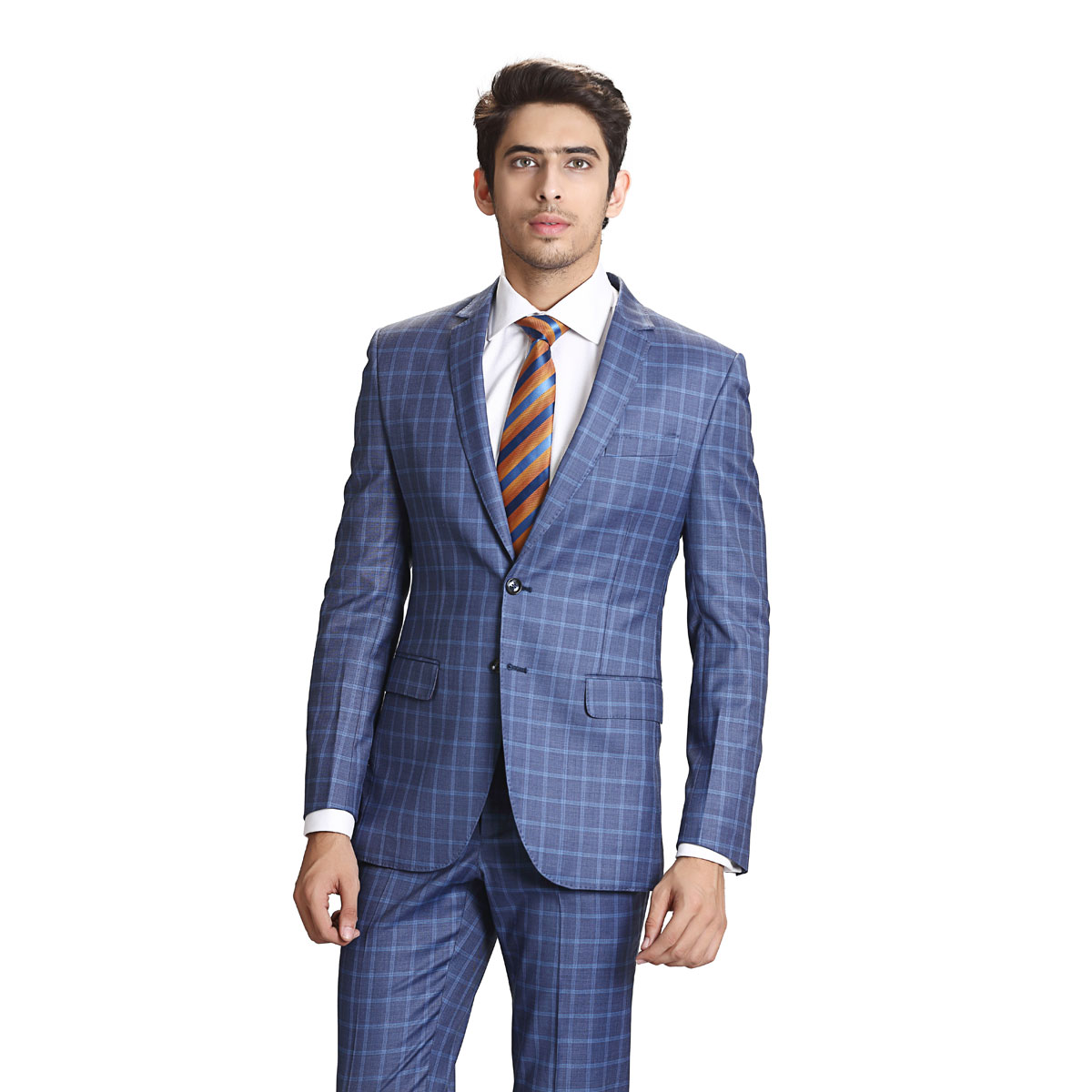 Blue Blood Check Suit - Best Bespoke Suits. Premium Custom