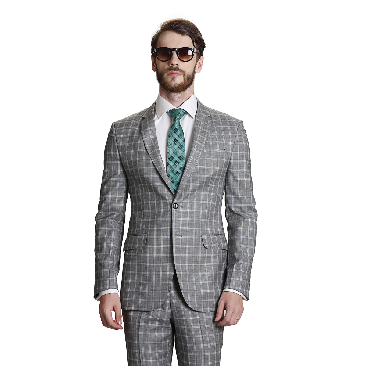 FEEL GOOD GREY CHECK SUIT - Best Bespoke Suits. Premium Custom ...