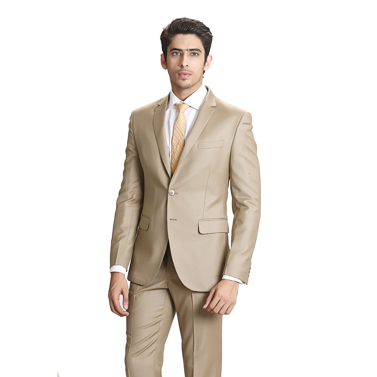 Lucky Always Beige Suit - Best Bespoke Suits. Premium Custom ...